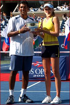 ダニエラ・ハンチュコバ 優勝♪:'05全米オープンテニス(ミックスダブルス):The US Open 2005 - Grand Slam Tennis - Official Site by IBM - News